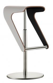 Design Barhocker, verchromtes Gestell, Sitzfläche aus Schichtholz