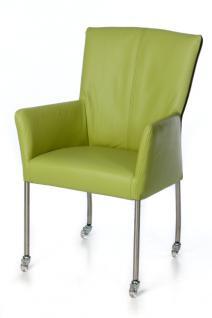 Moderner Stuhl auf Rollen in verschiedenen Farben