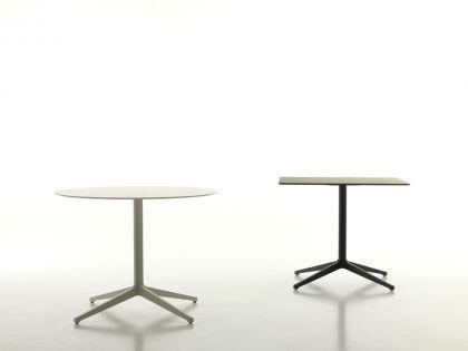 Design Tisch in Farben weiß und schwarz