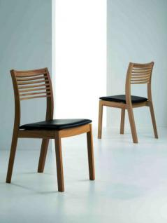 Stuhl aus Eichenholz im klassischen Stil in zwei Farben
