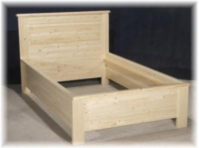 Bett Einzelbett Landhausstil Massivholz