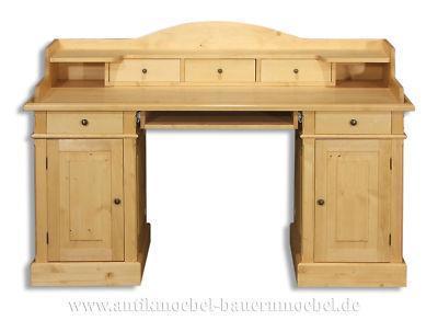Schreibtisch Sekretär Computertisch Büro Tisch Massiv Landhausstil