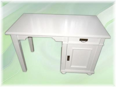 Schreibtisch Arbeitstisch Computertisch weiss massiv Landhausstil