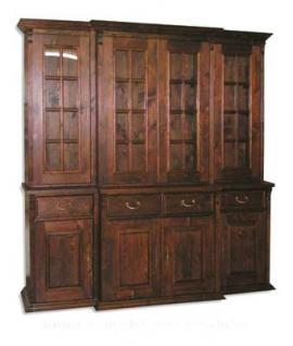 Wohnzimmerschrank Bücherschrank massiv Holz Landhausstil