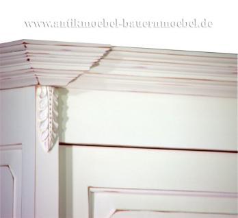 """Kleiderschrank Dielenschrank Schrank weiss massiv Landhausstil """"Grange"""" Nachbau - Vorschau 4"""
