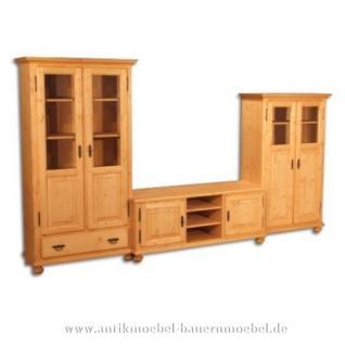Wohnzimmerschrank TV-Schrankkombi Schrankwand Massivholz - Vorschau 1