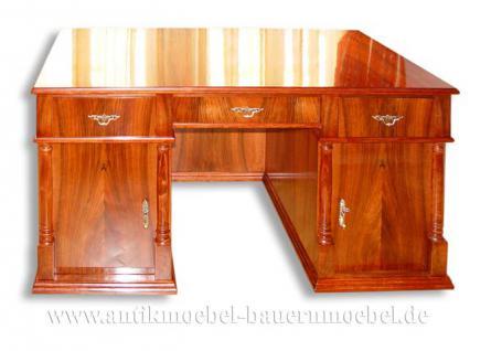 Schreibtisch pc schreibtisch kirschbaum funiert kaufen for Schreibtisch kirschbaum