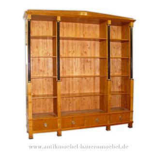 Bücherregal Regal Biedermeier Kirschbaum Empire Style