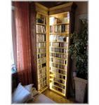CD/DVD Eck-Regal Bücherregal ohne LED-Beleuchtung Landhausstil
