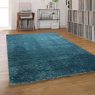 Hochflor-Teppich, Shaggy Waschbar Für Wohnzimmer Und Schlafzimmer, Waschbar in Türkis
