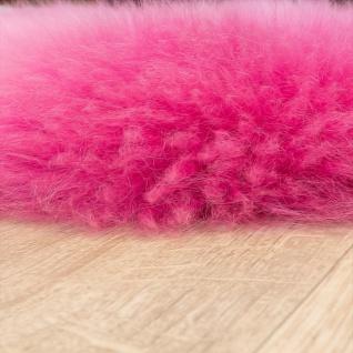 Australisches Lammfell Naturfell Bettvorleger Echtes Schaffell In Pink - Vorschau 2