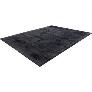 Teppich Handgefertigt Hochwertig 100 % Viskose Vintage Optisch Meliert Anthrazit - Vorschau 3