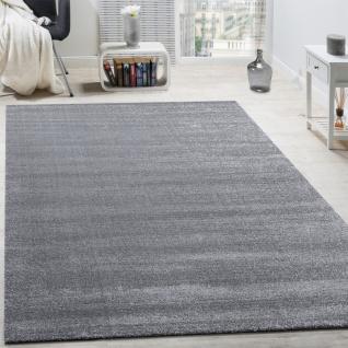 Designer Teppich Frieze Teppiche Luxuriös Schimmer Glanzeffekt In Uni Grau