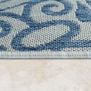 In- & Outdoor-Teppich, Für Balkon Und Terrasse Mit Orient-Muster, In Blau - Vorschau 2