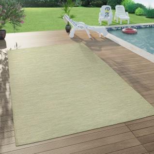 In- & Outdoor-Teppich Für Wohnzimmer, Balkon, Terrasse, Flachgewebe In Grün