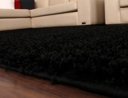Shaggy Schwarz Hochflor Langflor Teppich UNI Black * - Vorschau 2