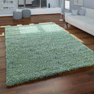 Shaggy Teppich Wohnzimmer Grün Hochflor Flauschig Weich Kuschelig Robust