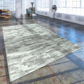 Kurzflor Wohnzimmer Teppich Used Look Mit Naturstein Optik In Grau Weiss