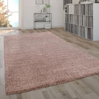Hochflor-Teppich, Shaggy-Teppich, Moderner Wohnzimmer-Teppich In Rosa Pink