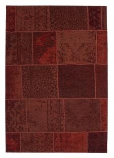 Designer Teppich Modernes Patchwork Vintage Muster Rot