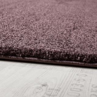 Designer Teppich Frieze Teppiche Luxuriös Schimmer Glanzeffekt Uni Pastell Lila - Vorschau 2