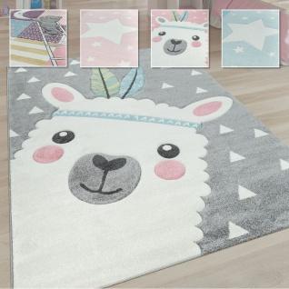 Kinderteppich Kinderzimmer Moderne Pastell Farben, Niedliche Motive, 3D Effekt