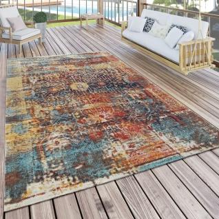 In- & Outdoor Teppich Modern Nomaden Design Terrassen Teppich Bunt