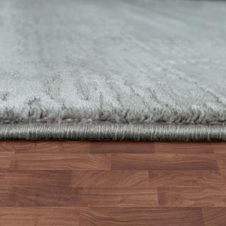 Designer Polyacryl Teppich Edel Modern Shabby Chic Used Look Abstrakt 3D Effekt Grau - Vorschau 2