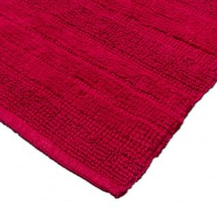 Badematte Badteppich Badezimmerteppich aus Baumwolle Einfarbig in Rot - Vorschau 3