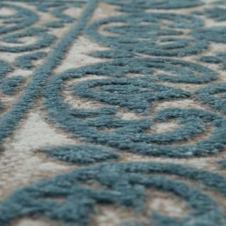 Wohnzimmer-Teppich, Kurzflor-Teppich Mit Orient-Muster, 3D-Look In Türkis - Vorschau 3