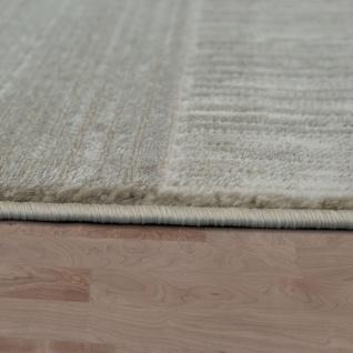 Moderner Heatset Designer Teppich Kurzflor Karo Design In Pastell Beige Creme - Vorschau 2
