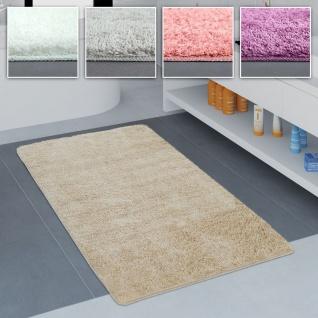 Badezimmer Teppich Einfarbig Kuschelig Gemütlich In Versch. Größen u. Farben