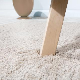 Shaggy Teppich Micro Polyester Wohnzimmer Teppiche Elegant Hochflor Hellbeige - Vorschau 4