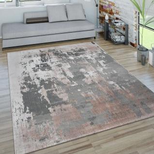 Teppich Für Wohnzimmer, Kurzflor-Teppich, 3-D-Effekt Beton-Optik, In Grau