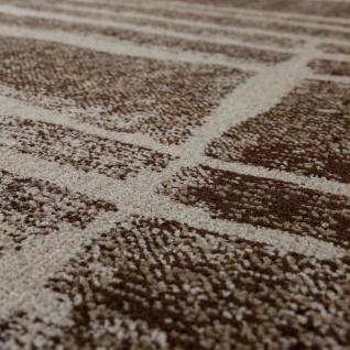 Designer Teppich Modern Trendiger Kurzflor Braun Beige Creme Meliert - Vorschau 3