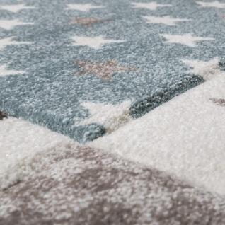 Kinderteppich Kinderzimmer Konturenschnitt Stern Muster Beige Creme Pastellfarben - Vorschau 3