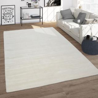 Wohnzimmer-Teppich, Kurzflor-Teppich Aus Wolle, Handgewebt, Einfarbig In Weiß