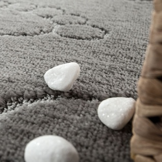 Moderner Badezimmer Teppich Rutschfest Badvorlerger Fußabdruck Einfarbig In Grau - Vorschau 3