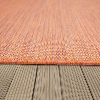 In- & Outdoor-Teppich Für Wohnzimmer, Balkon, Terrasse, Flachgewebe Terracotta - Vorschau 3