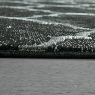 Orient Teppich Modern 3D Effekt Marokkanisches Muster Schwarz Weiß - Vorschau 3