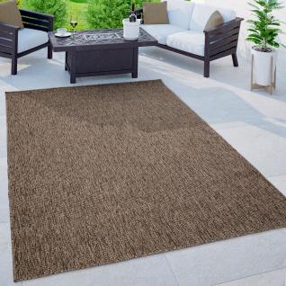 Outdoor Teppich Balkon Terrasse Küchenteppich Einfarbiges Muster Meliert Braun