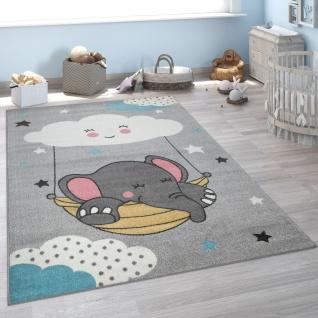 Kinderteppich, Teppich Kinderzimmer Niedliches Baby-Elefant Motiv, Grau
