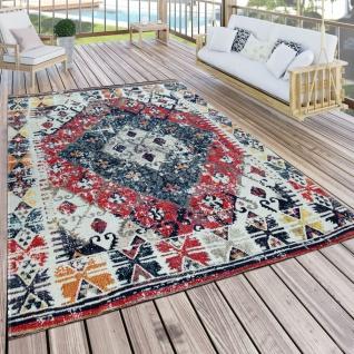 In- & Outdoor Teppich Modern Orient Muster Terrassen Teppich Bunt