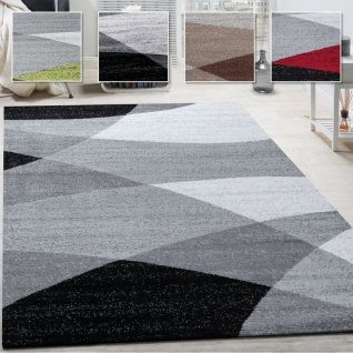 Wohnzimmer Teppich, Moderne Muster, Zeitloser Kurzflor Mit Geometrischem Design
