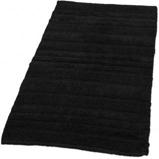 Badematte Badteppich Badezimmerteppich aus Baumwolle Einfarbig in Schwarz