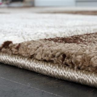 Bettumrandung Läufer Teppich Modern Karo Braun Creme Beige Läuferset 3 Tlg. - Vorschau 2