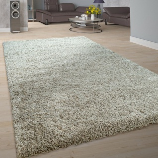 Hochflor-Teppich, Shaggy-Stil, Weicher Flor Einfarbig In Modernem Grau Taupe