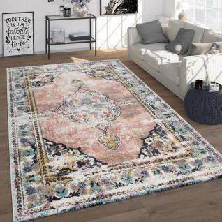 Frisé-Teppich, Vintage-Kurzflor Für Wohnzimmer, Orient-Design, Rosa