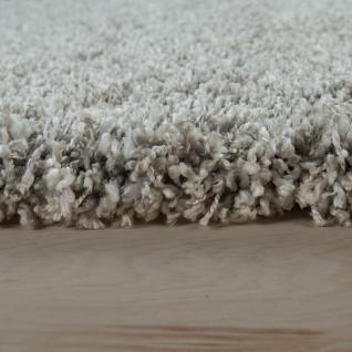 Hochflor-Teppich, Shaggy-Stil, Weicher Flor Einfarbig In Modernem Grau Taupe - Vorschau 2