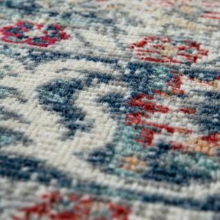 Outdoor Teppich Küchenteppich Balkon Terrasse Vintage Orient Muster Rot Blau Beige - Vorschau 4